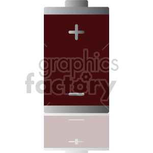 battery vector clipart. Royalty-free image # 408474