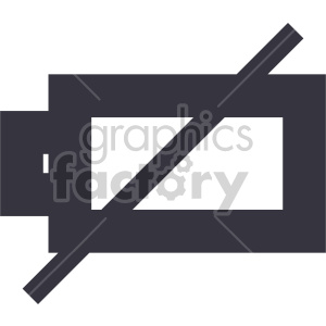 battery dead icon clipart. Commercial use image # 408479