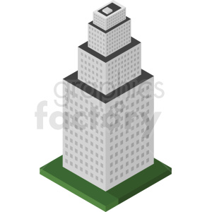 isometric building vector clipart. Commercial use image # 408511