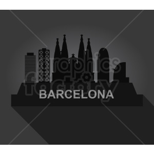 barcelona label vector design on dark background clipart. Royalty-free image # 408519