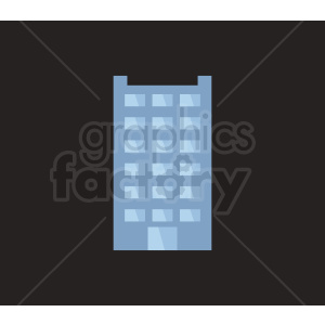 vector office building on dark background clipart. Royalty-free image # 408531