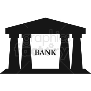 bank logo element clipart. Commercial use image # 408566
