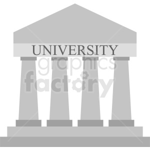 university vector icon clipart. Commercial use image # 408571