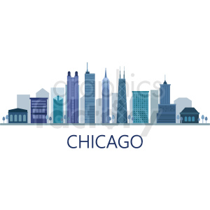 chicago city vector skyline with title clipart. Royalty-free image # 408591