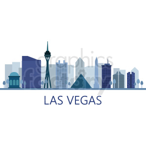 las vegas skyline vector clipart. Commercial use image # 408596