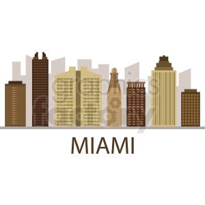 miami city buildings skyline vector clipart. Royalty-free image # 408626