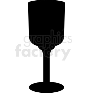 silhouette of glass cup clipart. Royalty-free image # 408666