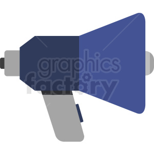 blue megaphone vector icon clipart. Royalty-free image # 408703