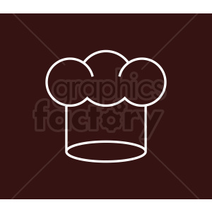 chef hat vector icon in white on dark background clipart. Commercial use image # 408741