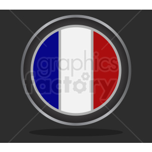 france flag symbol on dark background clipart. Commercial use image # 408754