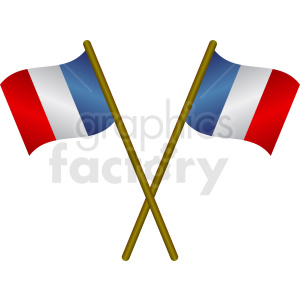 french flags icon clipart. Royalty-free image # 408756