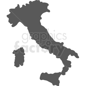 italy country outline clipart. Royalty-free image # 408764