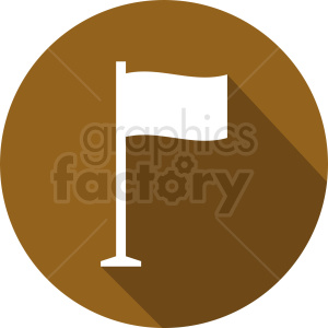 white flag icon on circle brown background clipart. Commercial use image # 408781