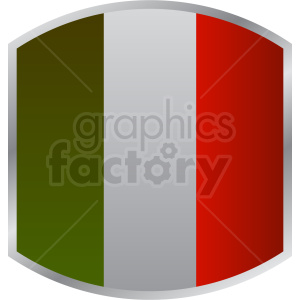 italian flag badge design clipart. Royalty-free image # 408784