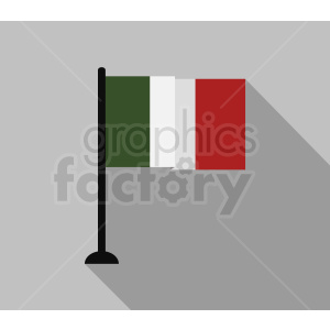 italian flag square design