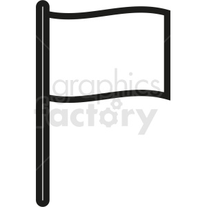 flag outline clipart. Royalty-free image # 408869