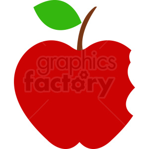 red cartoon apple with bites taken out clipart. Royalty-free image # 408879
