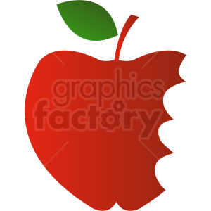 dak red cartoon apple with bites taken out clipart. Royalty-free image # 408881