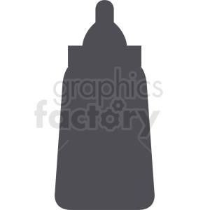 mustard bottle vector silhouette clipart. Royalty-free image # 408886