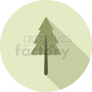 vector pine tree design on circle background clipart. Commercial use image # 408909