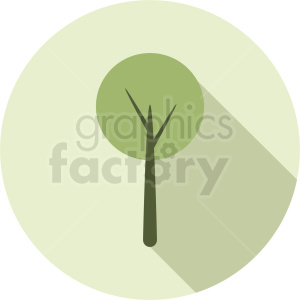 vector round tree design on circle background