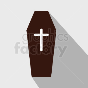 coffin vector icon clipart. Royalty-free image # 408956