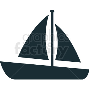 sail boat vector icon design no background clipart. Royalty-free image # 408971