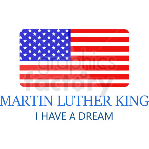 Martin Luther king I have a dream vector icon clipart. Royalty-free image # 408999