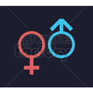 gender symbol vector clipart. Royalty-free image # 409007