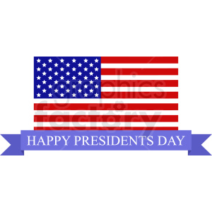 usa flag happy presidents day vector design clipart. Royalty-free image # 409012