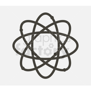 vector atoms gray background clipart. Royalty-free image # 409047