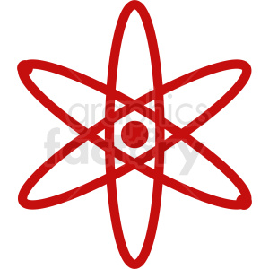 red atom design clipart. Royalty-free image # 409049