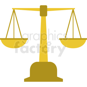 justice scale clipart. Commercial use image # 409097