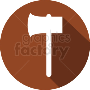 axe icon on brown background clipart. Royalty-free image # 409124
