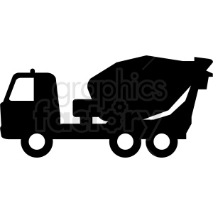 cement truck silhouette clipart. Commercial use image # 409132