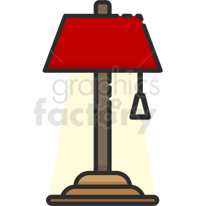 desk lamp icon clipart. Royalty-free image # 409162