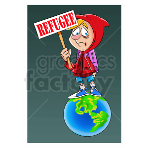 cartoon refugee illustration clipart. Royalty-free image # 409329
