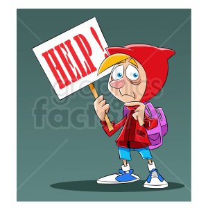 cartoon refugee needing help clipart. Royalty-free image # 409338
