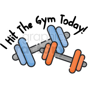 I hit the gym today digital planner sticker clipart. Commercial use image # 409346