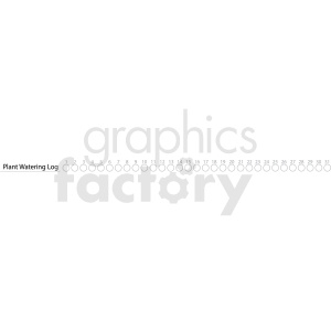 plant watering log digital planner sticker clipart. Royalty-free icon # 409382