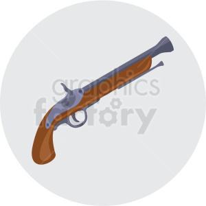 pirate pistol vector clipart on gray background clipart. Commercial use image # 409405