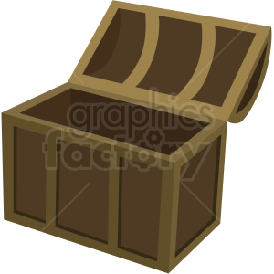 opened treasure chest vector clipart no background clipart. Royalty-free image # 409410