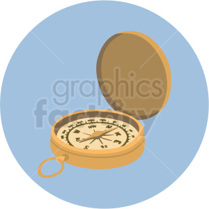 compass vector clipart on blue background clipart. Royalty-free image # 409415