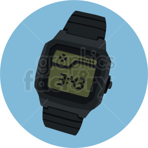 calculator watch on blue background clipart. Royalty-free image # 409466