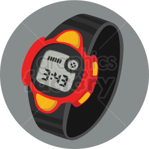 sport wrist watch grey background clipart. Royalty-free image # 409474