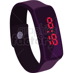 vector digital watch no background clipart. Royalty-free image # 409495
