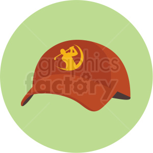 golfing hat vector clipart on green background clipart. Commercial use image # 409500