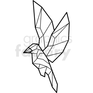bird paper craft clipart. Royalty-free image # 409562