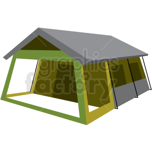 large camp tent vector clipart clipart. Commercial use image # 409596