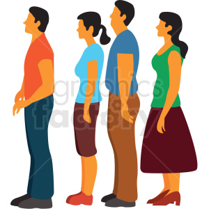 people waiting in line clipart. Commercial use image # 409670